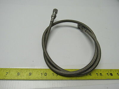 "Swagelok Convoluted 36"" Long 1/4"" Braided Hose 316 Stainless Steel"