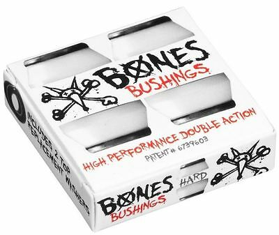 BONES Hardcore Bushings - 96a Hard White incl. 2 Topwasher  Longboard Skateboard