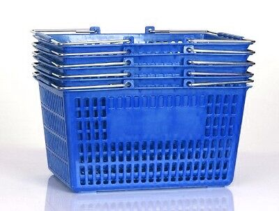 NEW Shopping Basket Set set of 5 Blue