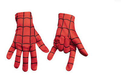 Spiderman Paire Gants Rouge Polyester Halloween Noël Costume Cosplay Déguisement