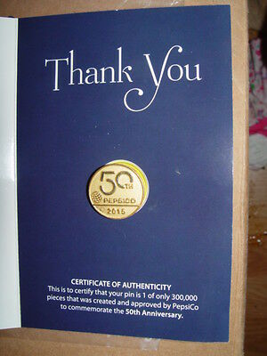 Pepsi  Pepsico 50th Anniversary Hat Pin Limited Edition NEW