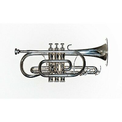 New Rs Berkeley Artist Series Student Silver Plated Cornet Cr614 With Warranty