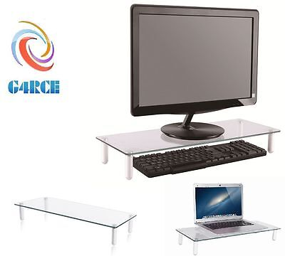 Universal TableTop Monitor TV LCD LED Riser Stand For Computer Laptop DVD XBOX