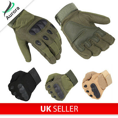 Airsoft Paintball Cycling Outdoor Military Armoured Gloves w Knuckle Protection