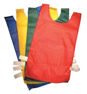 SET OF 10 Training Bibs VELCRO Football Kids Adults Small Medium Large XL
