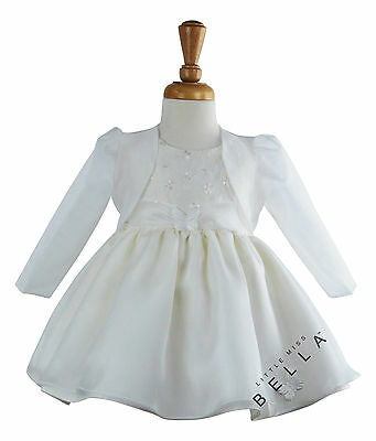 Baby Girl Organza Shrug Bolero Butterfly Christening Baptism Wedding  Dress