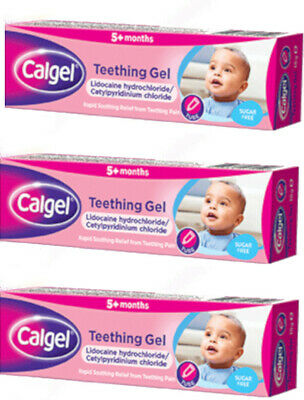 Calgel Calpol Teething Gel 10g X3 TRIPLE PACK - Rapid Relief from Teething Pain