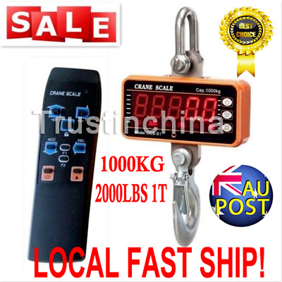 1000KG 2000LBS 1T High precision Aluminum Digital Crane Scale heavy Duty Hanging