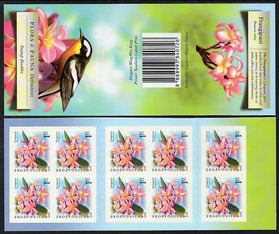 SINGAPORE MNH 2007 Flora and Fauna (Frangipani) Booklet complete.