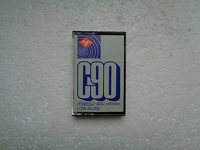 Vintage Audio Cassette AGFA C90 Grey * Rare From Germany 1972 *