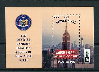 Union Island Gren St Vincent 2016 MNH Symbols Icons New York NY2016 1v S/S II