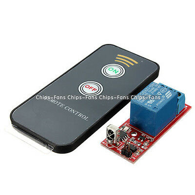 1 Channel Infrared Switch Relay Driving Module Board 12V Remote Controller NEW