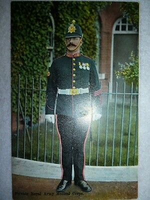 Postcard - E.F.A. Oilette - The Royal Army Medical Corps, Soldier with medals