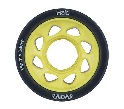 Radar - Halo 91a Yellow roller derby wheels ( 4 pack )