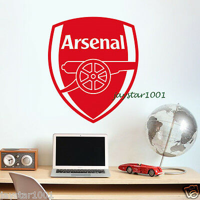 Vinyl Wall Stickers Football Club Decoration Red Arsenal Wall stickers