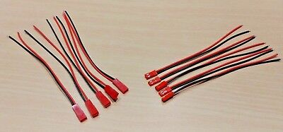JST RCY Connectors Cable  5 PAIRS - 150mm - LiPo Li-Ion Battery RC Cars Drone