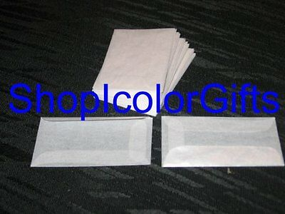 Lot of 60 Brand New Glassine Envelopes Size #1 (1-3/4 x 2-7/8). Free US Shipping