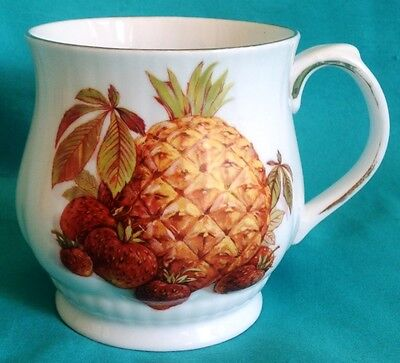Royal Staffordshire Harvest Fruits Pineapple Cup Hand Painted