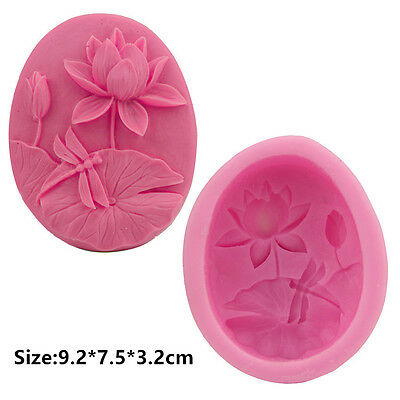 Lotus Dragonfly Silicone Cake Mould Fondant Sugar Soap Chocolate Decorating Tool