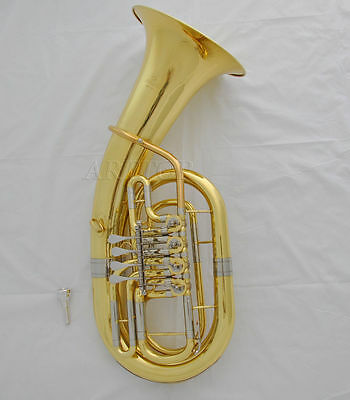 Professional Rotary Euphonium horn Bb key gold laq. with new case mouthpiece