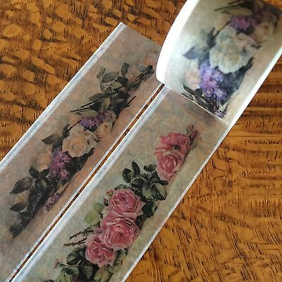 Washi Tape Wide Austin Roses 30Mm X 5Mtr Roll Scrap Plan Craft Wrap