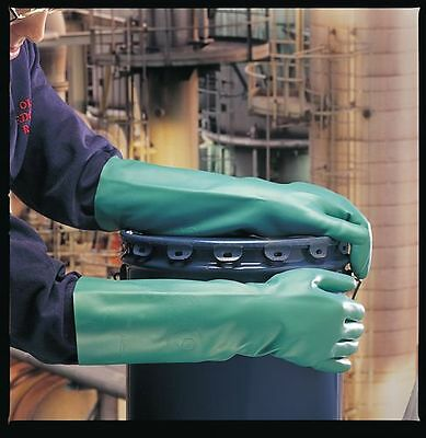 """Marigold Industrial Z51G Long Green Chemical Resistant Gloves-10""""sleeve"""