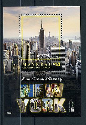 Mayreau Gren St Vincent 2016 MNH Iconic Sites New York NY2016 1v S/S Stamps