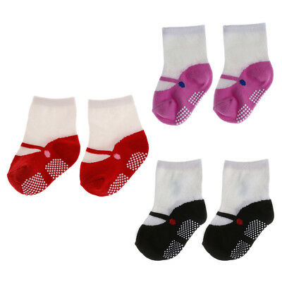 Baby Girls Newborn Crib Soft Cotton Shoes Floor Socks Boots Anti-slip 0-24M New
