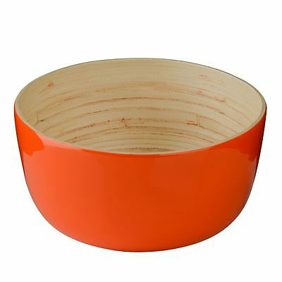 Kyoto Salad Bowl, Spun Bamboo, Orange
