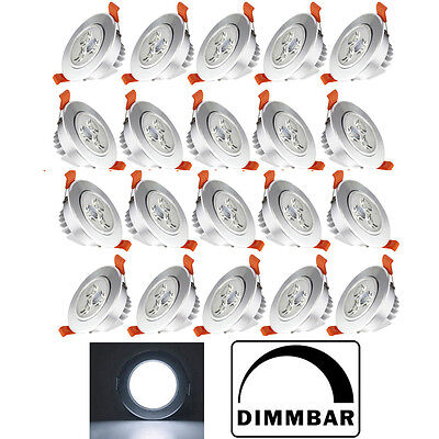 20x 5w led spot einbauleuchte einbau spot strahler set decken leuchte dimmbar eur 68 99. Black Bedroom Furniture Sets. Home Design Ideas