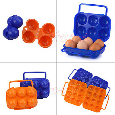 Camping Hiking Portable Carry 6/12 Egg Folding Box Case Container Storage Holder