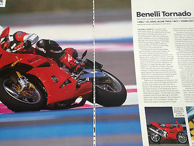 Benelli Tornado # First Ride Report # 3 Page Original 2003 Motorcycle Advert #