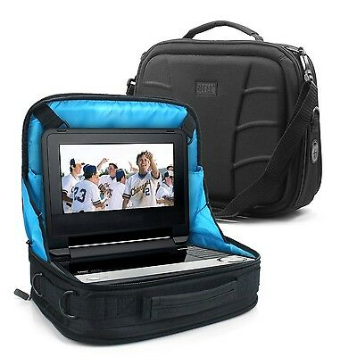 USA Gear Portable DVD TV Carry Case In-Car Headrest Mount Storage Bag with Ad...