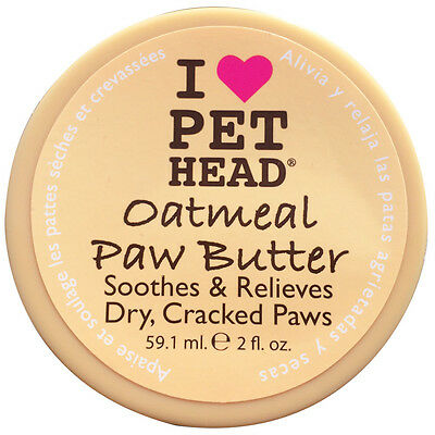Pet Head Oatmeal Paw Butter Soothes & Relieves Dry Cracked Paws With Shea Butter