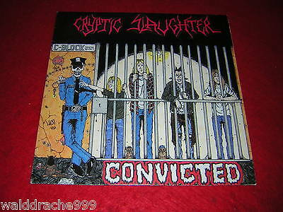 Cryptic Slaughter - Convicted, RR9680 Vinyl LP 1986, Metal Blade Records