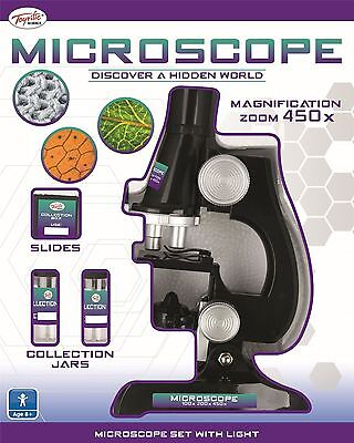 """6"""" Toyrific Childrens Kids Junior Magnifying Science Lab Microscope 23 Piece"""