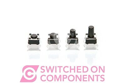 10 x Momentary Tactile Switch Push Button Miniature Mini Micro PCB SPST