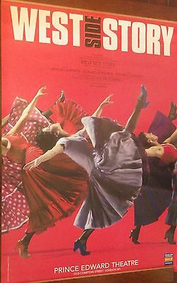 """40x60"""" HUGE SUBWAY POSTER~West Side Story Prince Edward Theatre London 1998 NOS~"""