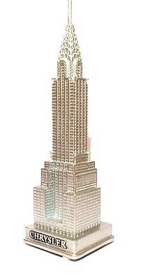 6 Inch Chrysler Building Statue Figurine Souvenirs from New York City NYC silver