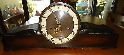 Vintage Juba German Wooden Mantel Clock