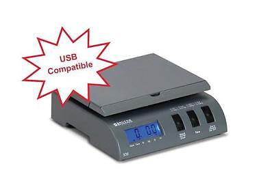 Brecknell 335 Electronic Portable Postal Parcel USB Scale 35 lb x 0.2oz,Gray,NEW