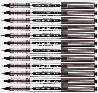 6 x UNI BALL EYE MICRO UB-150 ROLLERBALL PEN BLACK COLOUR – Cheapest on Ebay