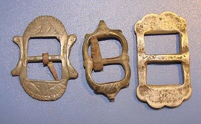 Ancient bronze belt buckles Kievan Rus (3 pieces) Original
