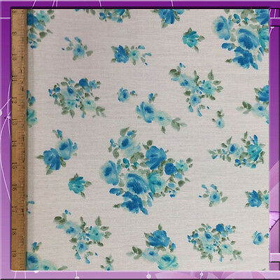 """100% Rayon Crepe Flower Design With Ivory Background 58"""" Wide Fabric Sold Bty"""