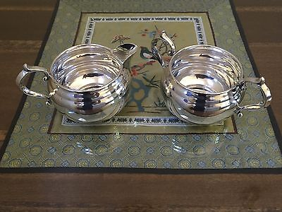 Gorham Sterling Silver Cream & Sugar Bowl Set No Mono