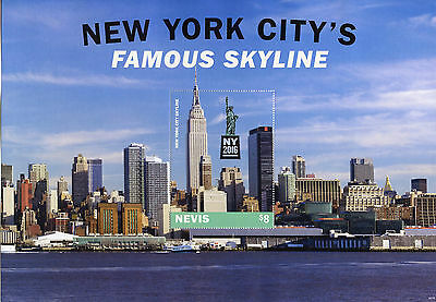 Nevis 2016 MNH New York City Famous Skyline NY2016 1v S/S Skyscrapers Stamps