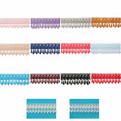 """Lily 3.25"""" 14 Colors Tear Drop Fringe Venise Lace Trim Sewing Supplies by Yard"""
