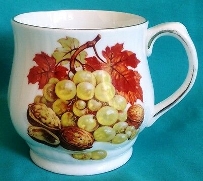 Royal Staffordshire Harvest Fruits/Grapes & Walnuts Cup Hand Painted