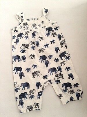 New baby girls summer safari playsuit  nb 0-3 3-6 6-9 9-12 12-18 18-24 months