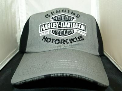 Harley-Davidson Grey and Black Baseball Cap